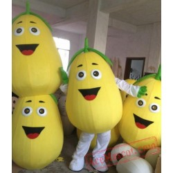 High Quality Yellow Pear Mascot Costume