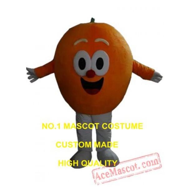 Custom Design Costume or Mascot in Adult Size Round Orange Head