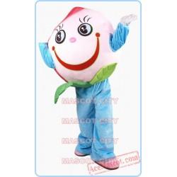 Pink Peach Mascot Costume