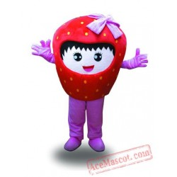 Professional Girl Strawberry Fruit Mascot Costume
