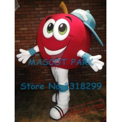 Big Red Apple Boy Mascot Costume