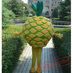 Pineapple Mascot Costume Fruit Cartoon Character