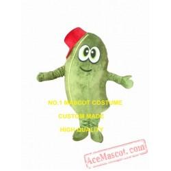 Green Mango Mascot Costume For Adult