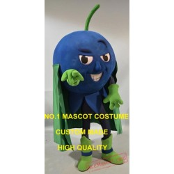 Cool Superman Blueberry Mascot Costume