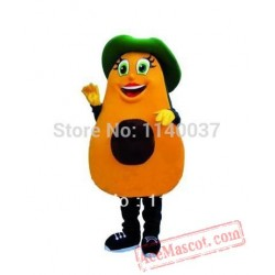 Avocado Cartoon Mascot Costume Fruit Avocado Mascot Outfit