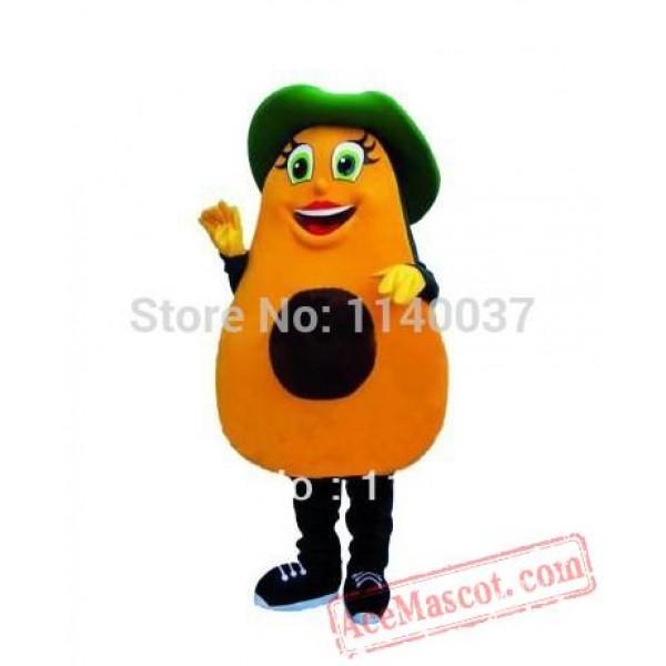 Avocado Cartoon Mascot Costume Fruit Avocado Mascot Outfit