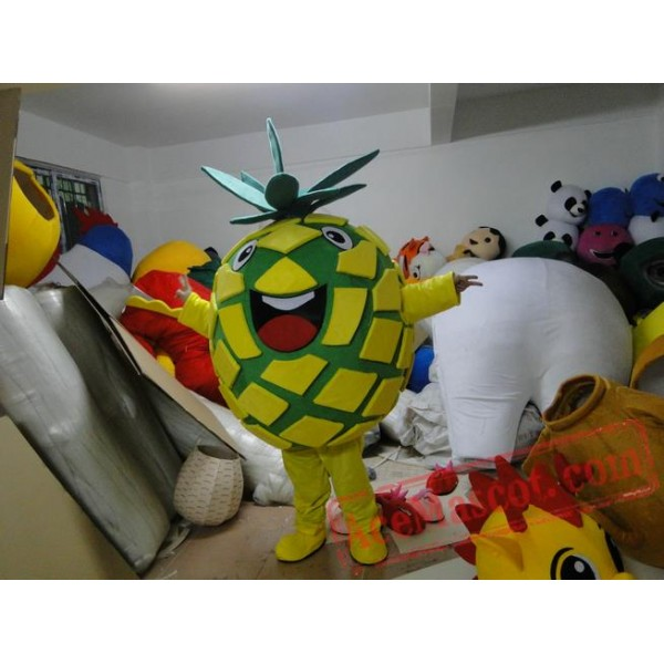 Adult Fruit Pineapple Mascot Costume Fruit Carnival