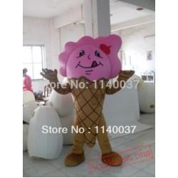Pink Icecream Mascot Costume