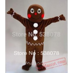 Holiday Gingerbread Man Mascot Costume