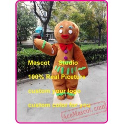 Gingerbread Mascot Costume Christmas Ginger Bread
