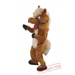 Helmet Brown Horse Mascot Costumes