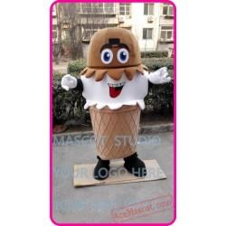 Plush Ice Cream Icecream Mascot Costume