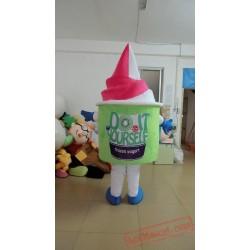 Pink And Green Ice Cream Mascot Costume