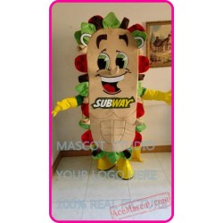 Subway Sandwich Subman Mascot Costume