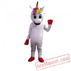 Rainbow Pony Unicorn Magic Mascot Costume Horse