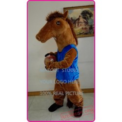 Brown Basketball Horse Mustang Mascot Costume