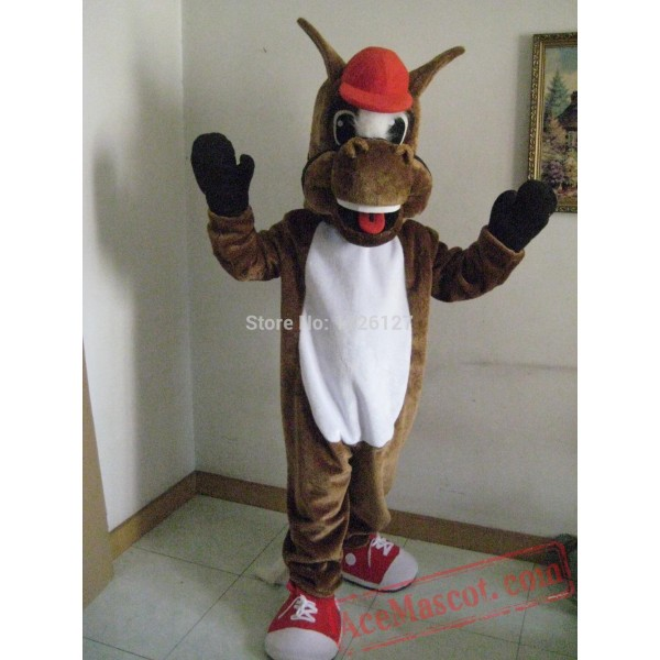Brown Horse Mascot Costume