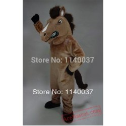 Brown Mustang Horse Mascot Costume