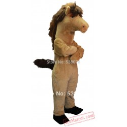 Brown Mustang Horse Mascot Costume