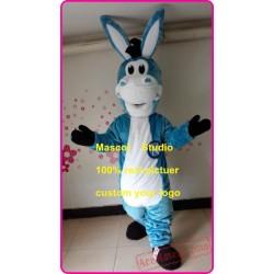 Blue Donkey Mole Mascot Costume