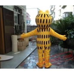 Yellow Cat Cartoon Outfit Carnival Mascot Costume