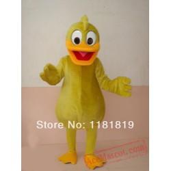 Yellow Duck Mascot Costume Custom Cartoon