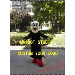 Witch Gargamel Mascot Costume Cartoon Character Cosplay