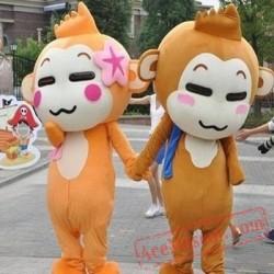 Yoyo And Cici Monkey Cartoon Suit Carnival Mascot Costumes