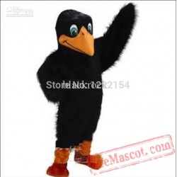 Adult Cute Black Bird Cartoon Mascot Costume