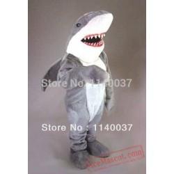 Fierce Grey Shark Mascot Costume