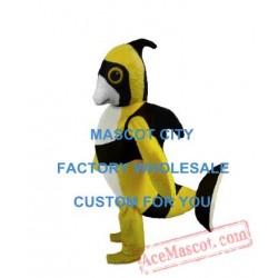 Yellow & Black Angel Fish Mascot Costume Sea Animals Mascot