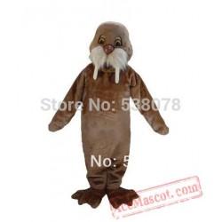 Light Brown Walrus Mascot Costume Sea Animals Mascot