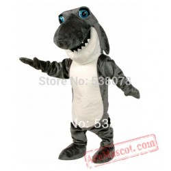 Dark Grey Johnny Jaws Shark Mascot Costume Adult Fierce Sea Animals Mascot