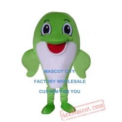 Green Dolphin Mascot Costume