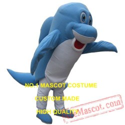 Blue Shark Mascot Costume