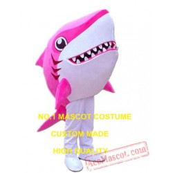 Cartoon Pink Shark Mascot Costume