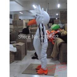 White Big Bird Eagle Mascot Costume