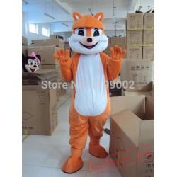 Yellow Squirrel Cartoon Mascot Costume