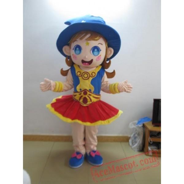 Betty Girl Mascots Cartoon Mascot Costume