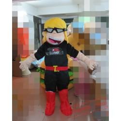 Yellow Hair Girl Mascot Costumes