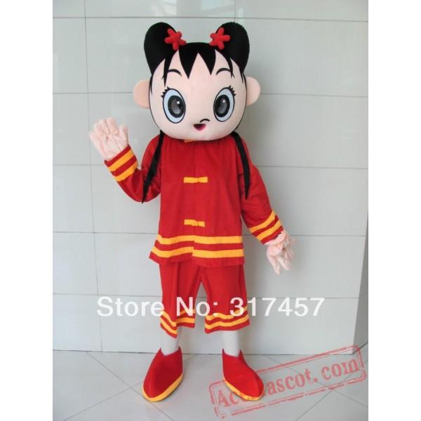 China Girl Mascot Costume Adult Character Cosplay Costume