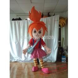 Orange Hair Girl Mascot Costumes