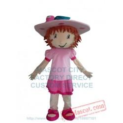 Strawberry Girl Mascot Costume