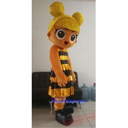 Plush New Adult Bee Girl Doll Christmas Mascot Costume