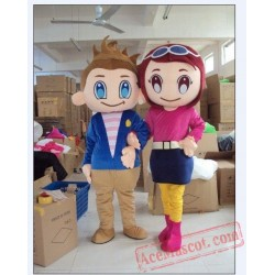 Fashion Boy Girl Outfit Carnival Mascot Costume