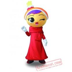 Professional Girl Mascot Costume Adult
