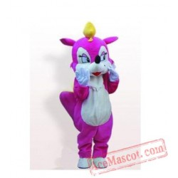 Super Charming Lady Pink Rose Squirrel Mascot Costume