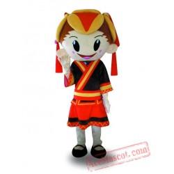 Professional Mascot Costume Girl Mascot Costume