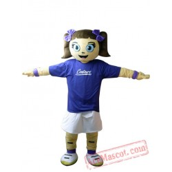 Blue Coat Girl Mascot Costume
