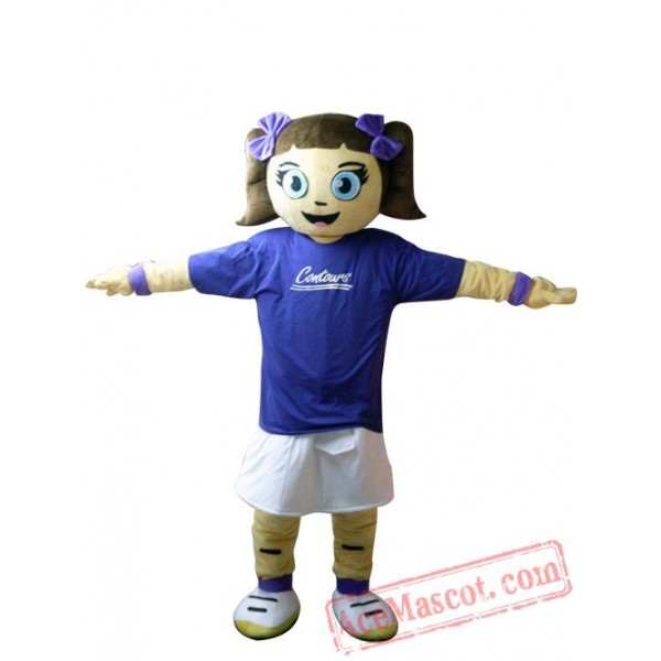 Blue Coat Girl Mascot Costume